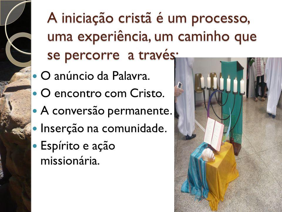 A iniciação cristã é um processo, uma experiência, um caminho que se percorre a través: