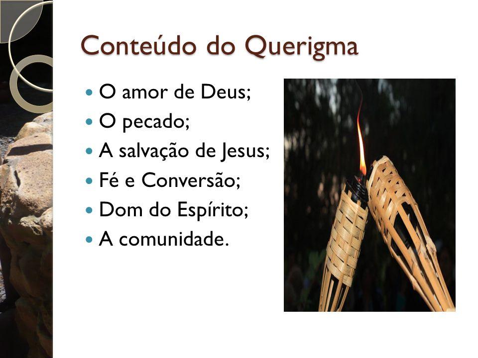 Conteúdo do Querigma O amor de Deus; O pecado; A salvação de Jesus;