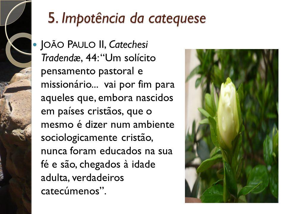 5. Impotência da catequese