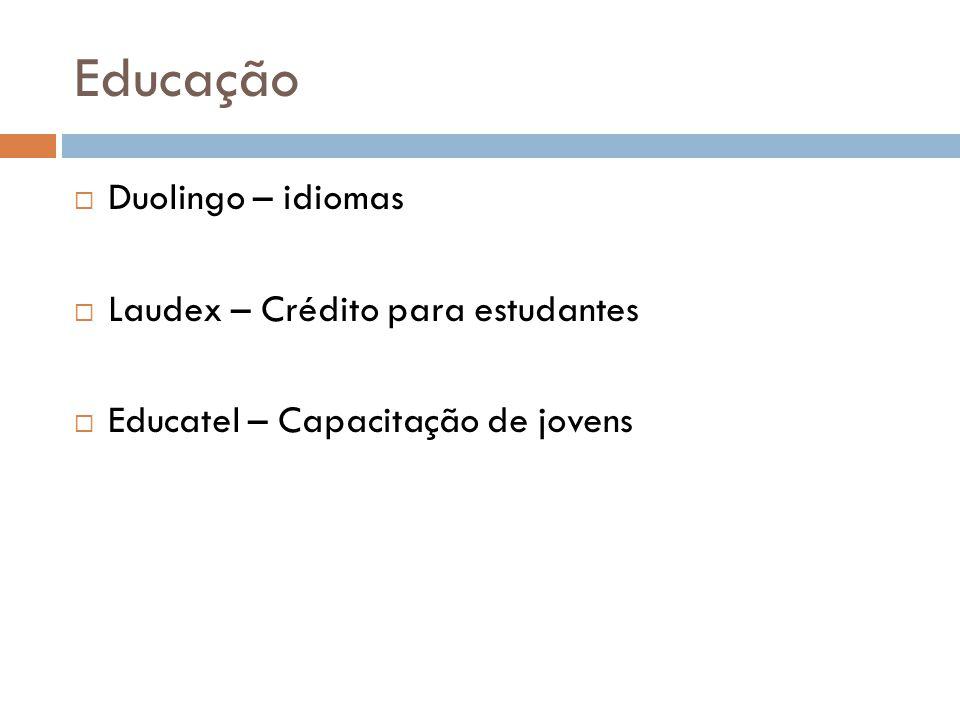 Educação Duolingo – idiomas Laudex – Crédito para estudantes