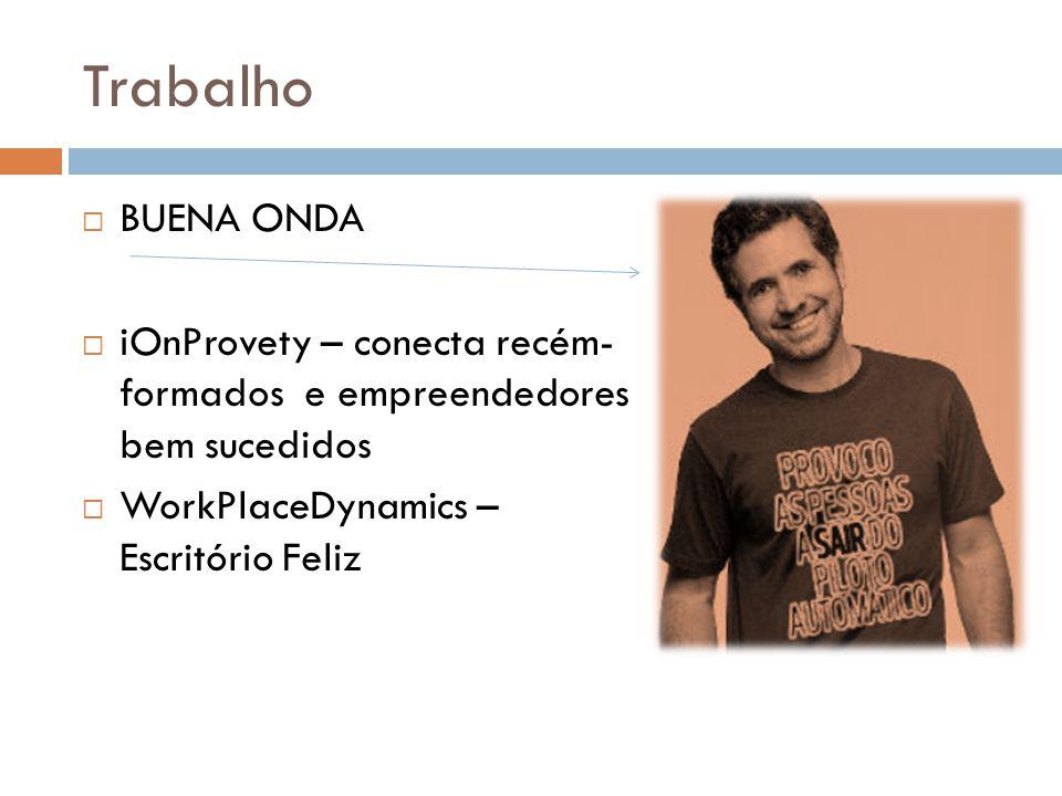 Trabalho BUENA ONDA. iOnProvety – conecta recém- formados e empreendedores bem sucedidos.