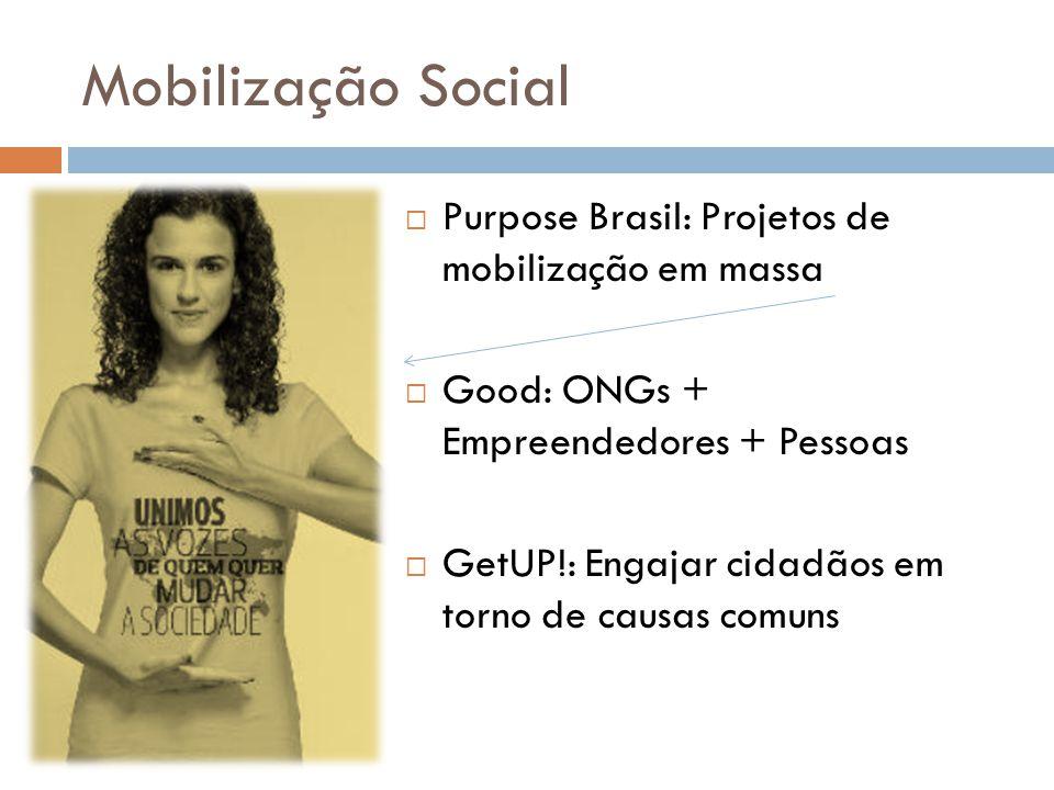 Mobilização Social Purpose Brasil: Projetos de mobilização em massa