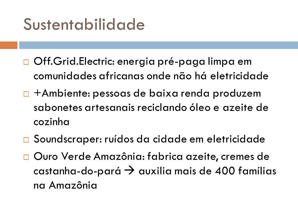 Sustentabilidade Off.Grid.Electric: energia pré-paga limpa em comunidades africanas onde não há eletricidade.