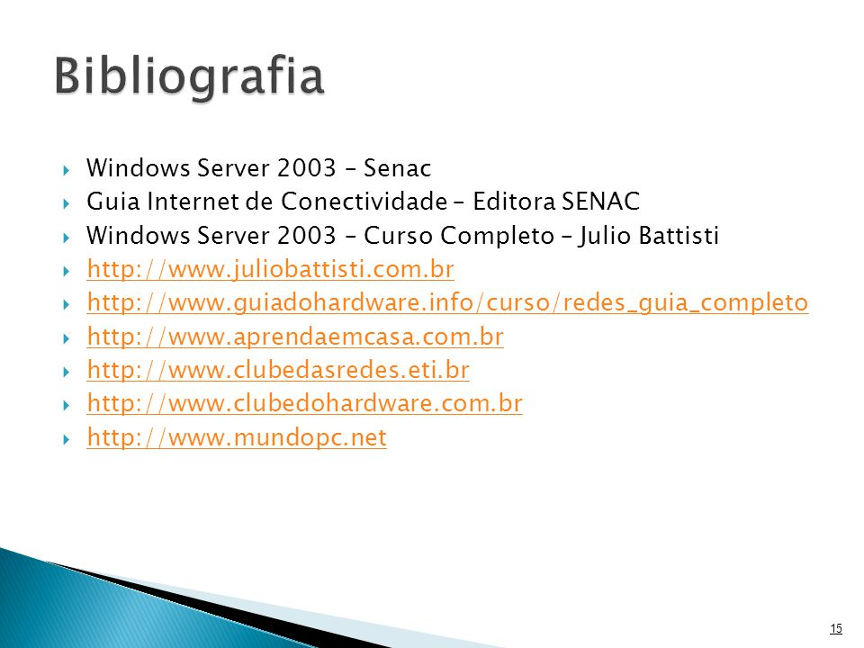 Bibliografia Windows Server 2003 – Senac