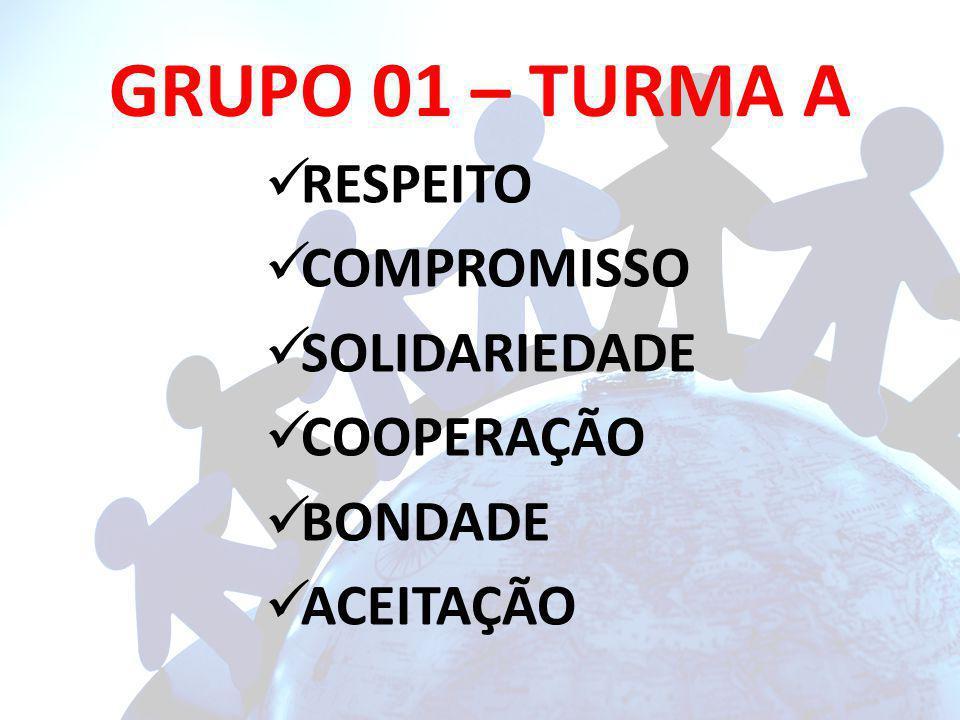 GRUPO 01 – TURMA A RESPEITO COMPROMISSO SOLIDARIEDADE COOPERAÇÃO