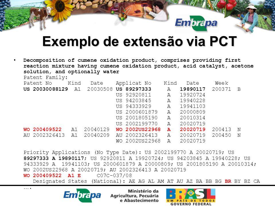 Exemplo de extensão via PCT