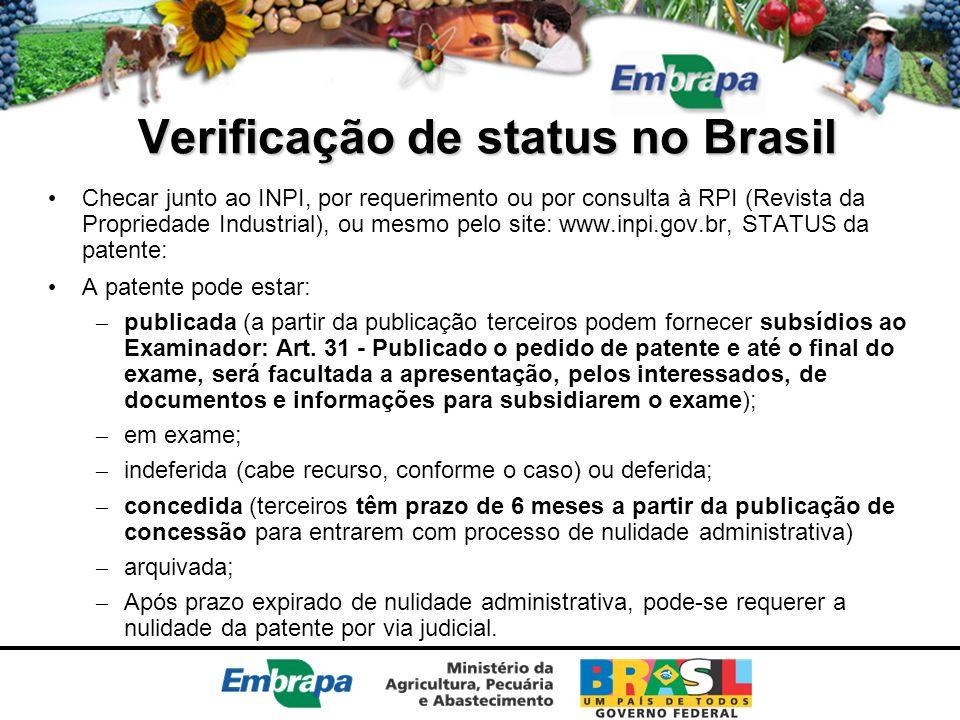 Verificação de status no Brasil