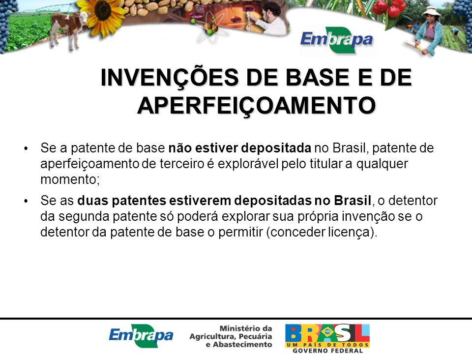 INVENÇÕES DE BASE E DE APERFEIÇOAMENTO