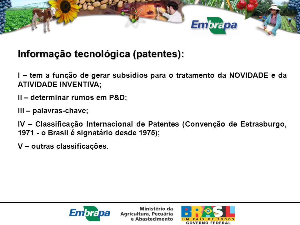 Informação tecnológica (patentes):