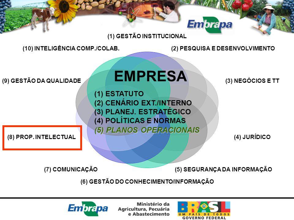 EMPRESA (5) PLANOS OPERACIONAIS (1) ESTATUTO (2) CENÁRIO EXT./INTERNO