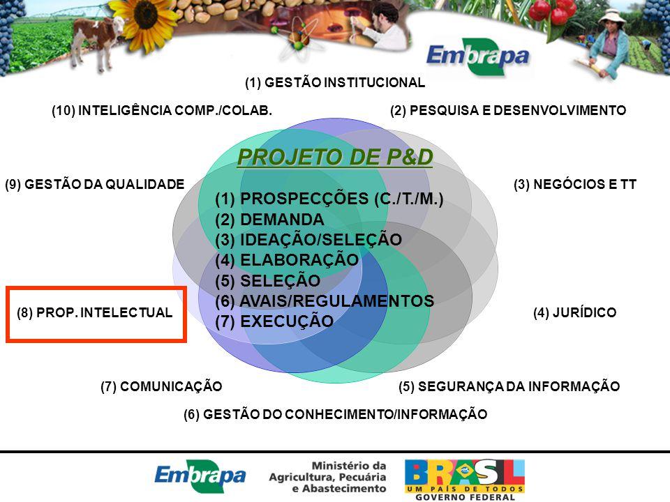PROJETO DE P&D (1) PROSPECÇÕES (C./T./M.) (2) DEMANDA