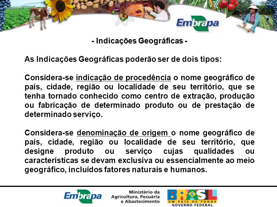 - Indicações Geográficas -