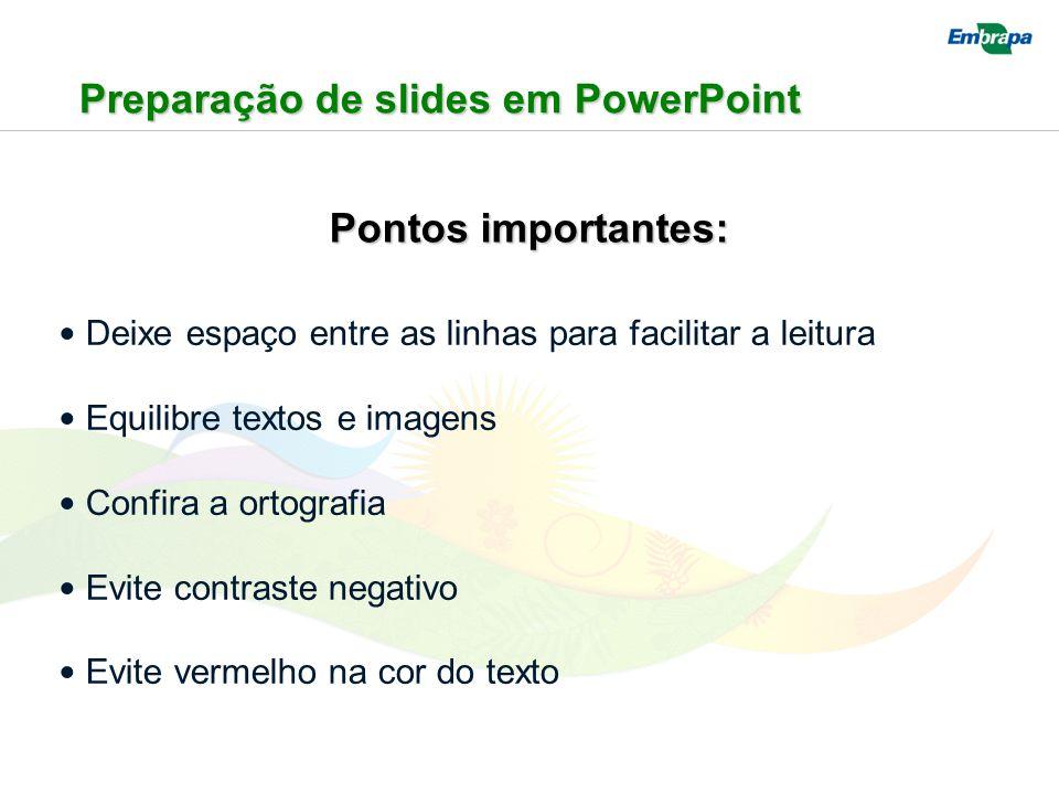Preparação de slides em PowerPoint