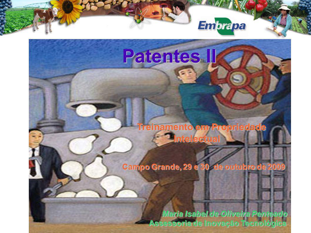 Patentes II Treinamento em Propriedade Intelectual