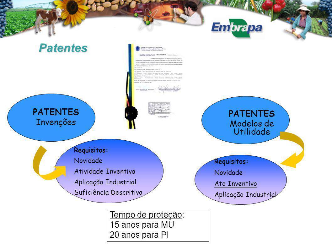 Patentes PATENTES PATENTES Invenções Modelos de Utilidade
