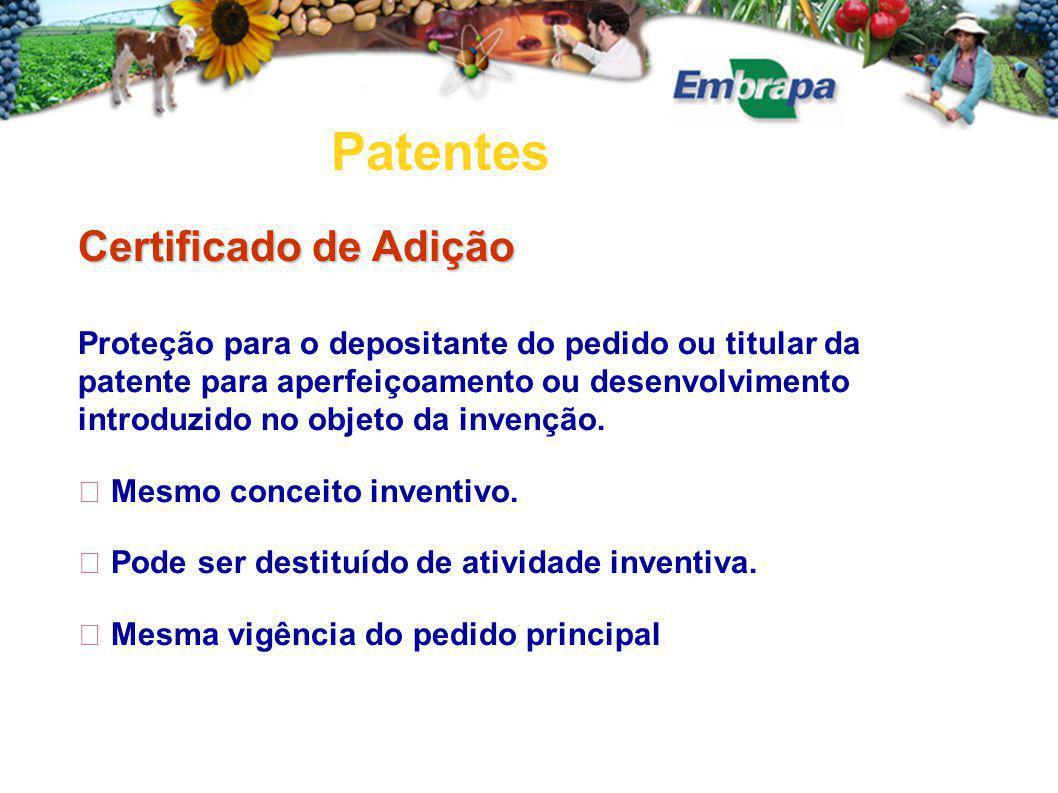 Patentes Certificado de Adição