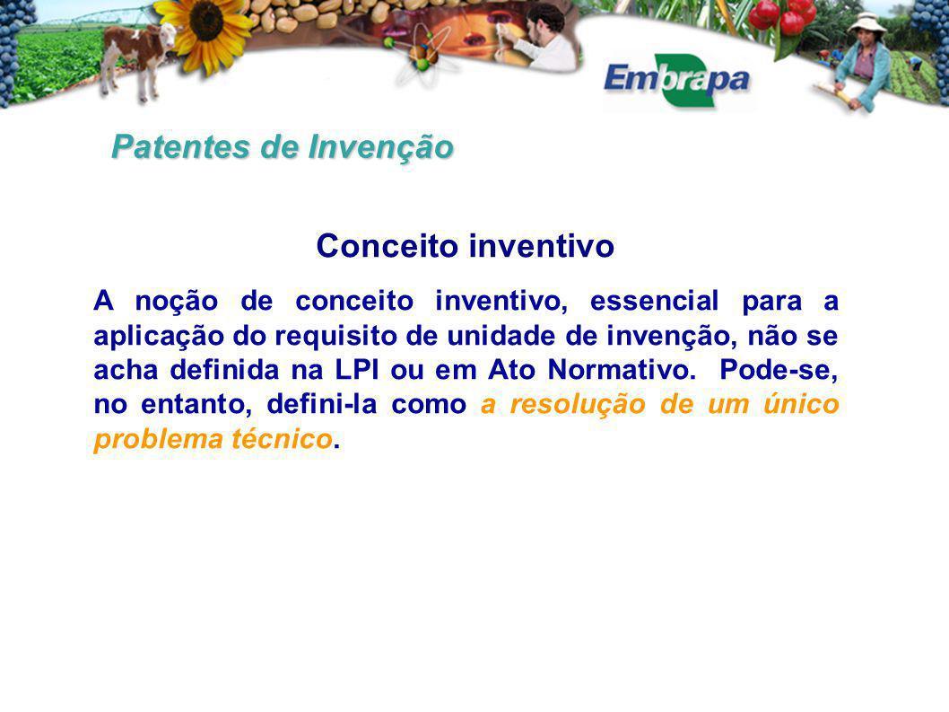 Patentes de Invenção Conceito inventivo
