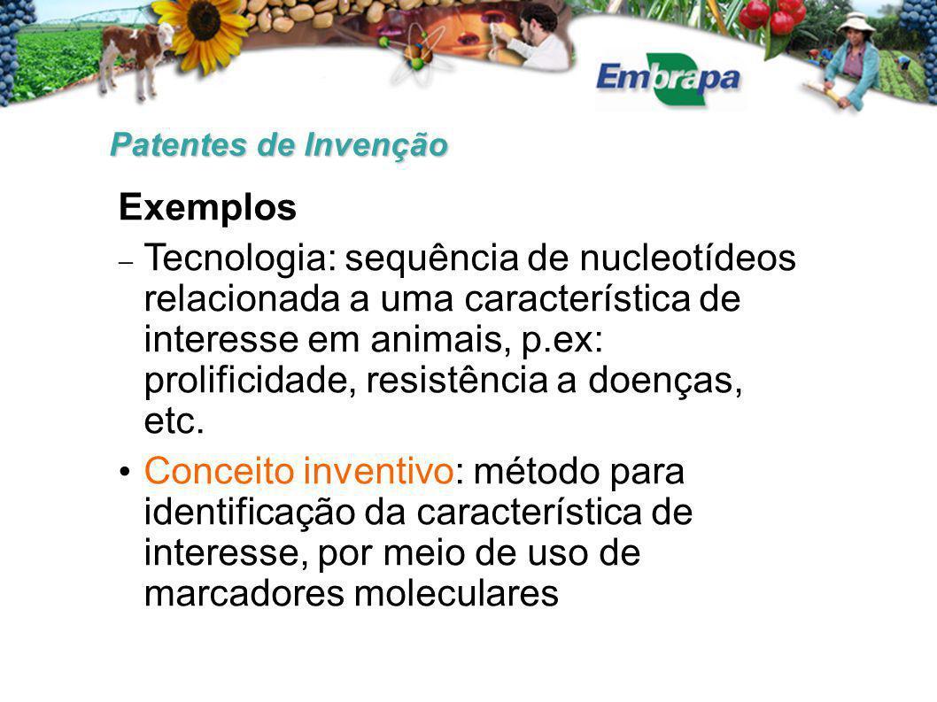 Patentes de Invenção Exemplos.
