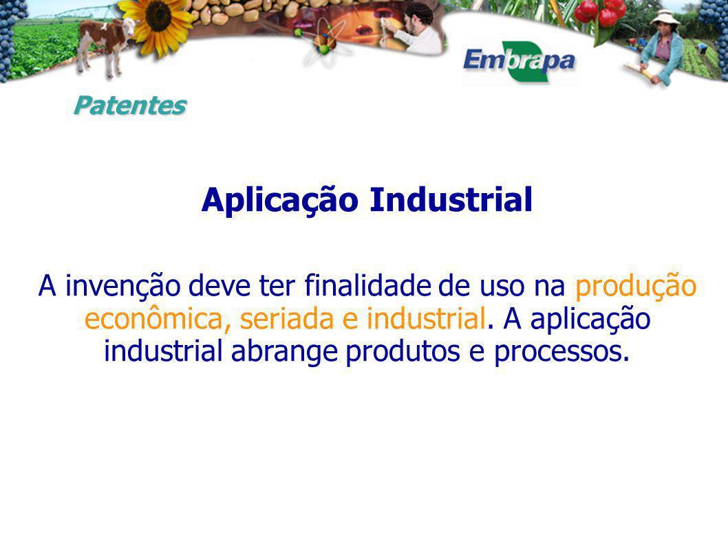 Patentes Aplicação Industrial.