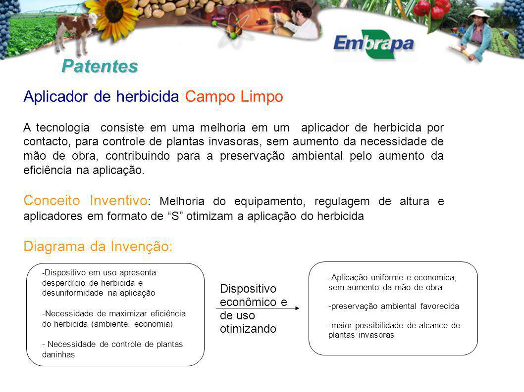 Patentes Aplicador de herbicida Campo Limpo