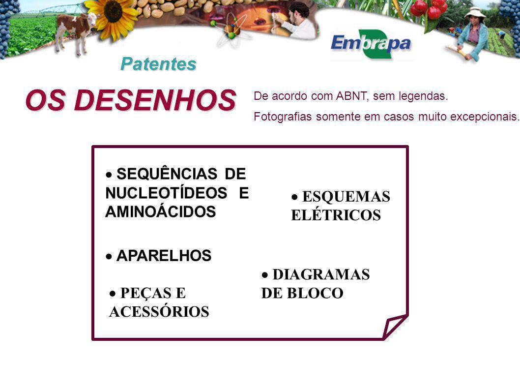 OS DESENHOS Patentes  SEQUÊNCIAS DE NUCLEOTÍDEOS E AMINOÁCIDOS