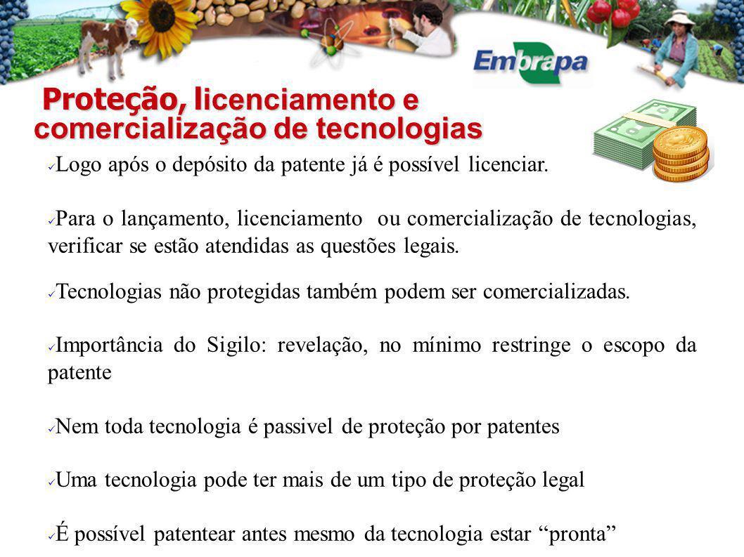 Proteção, licenciamento e comercialização de tecnologias