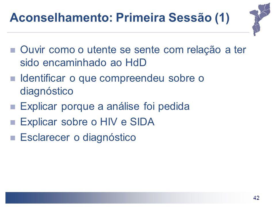 Aconselhamento: Primeira Sessão (1)