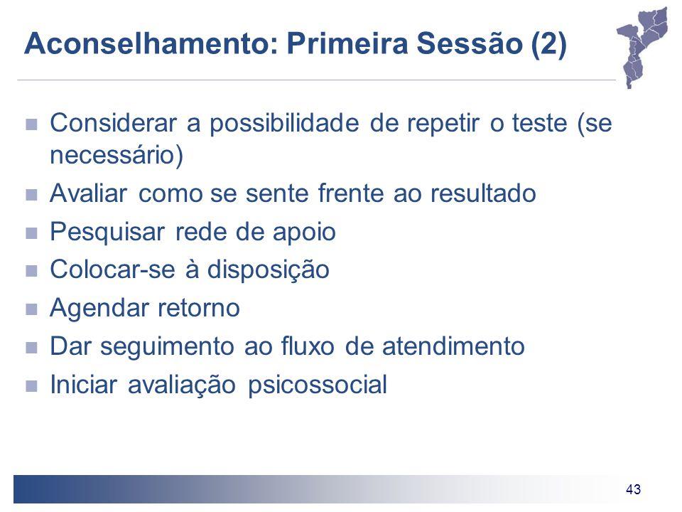 Aconselhamento: Primeira Sessão (2)