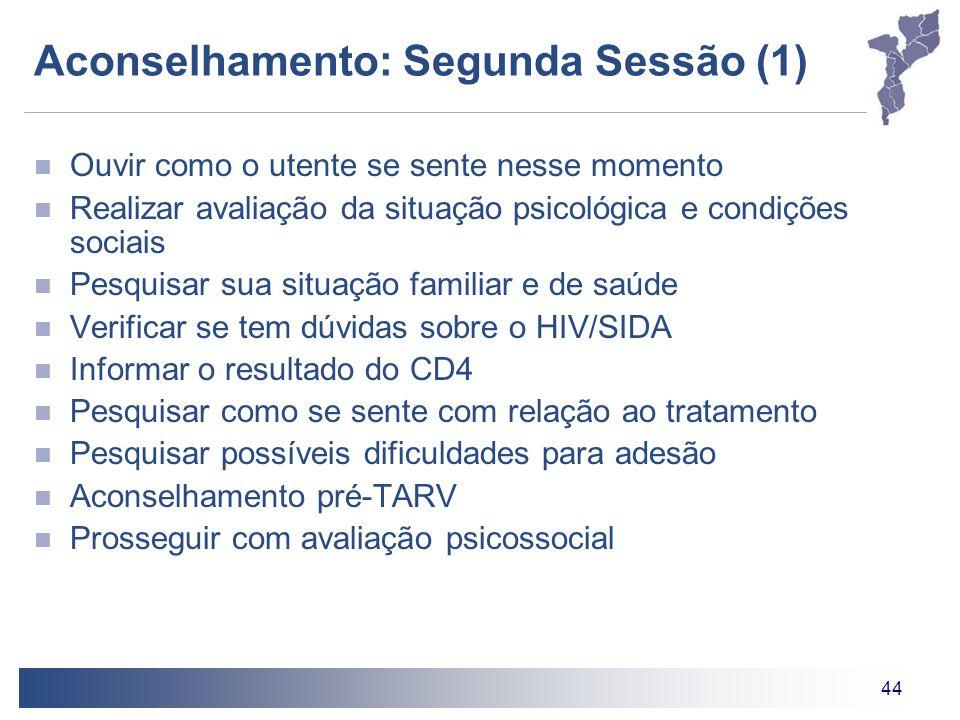 Aconselhamento: Segunda Sessão (1)
