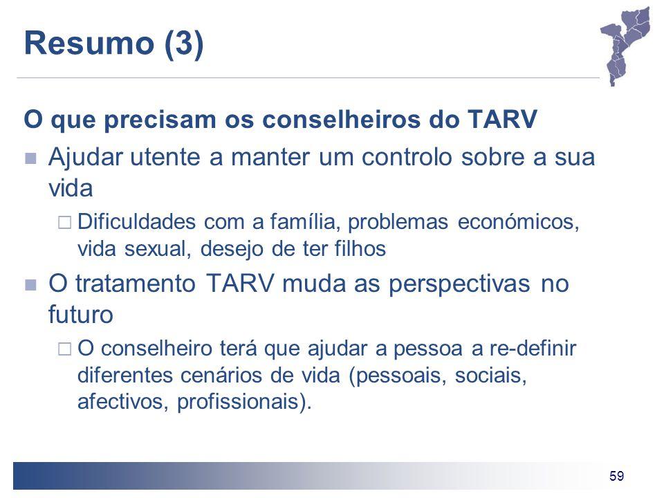 Resumo (3) O que precisam os conselheiros do TARV