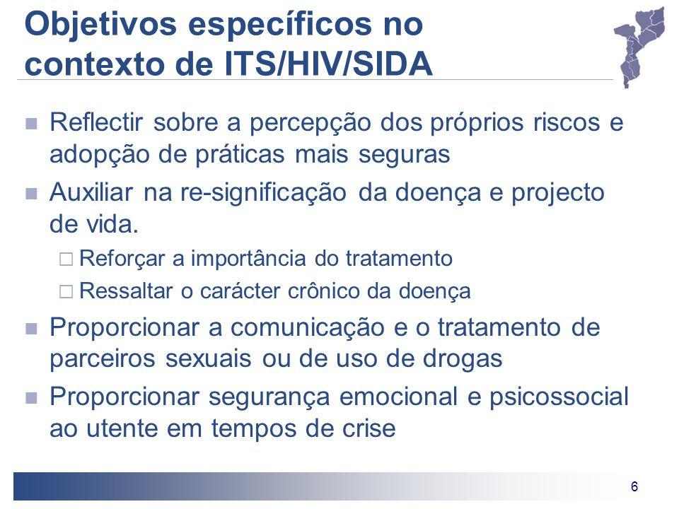 Objetivos específicos no contexto de ITS/HIV/SIDA