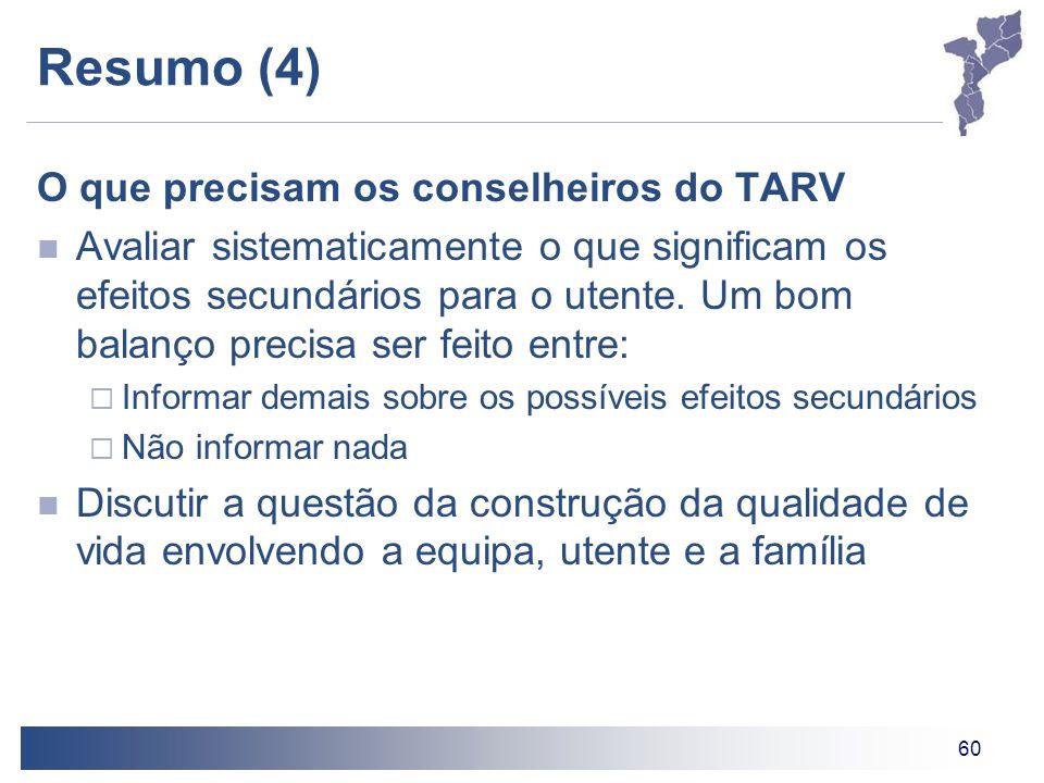 Resumo (4) O que precisam os conselheiros do TARV