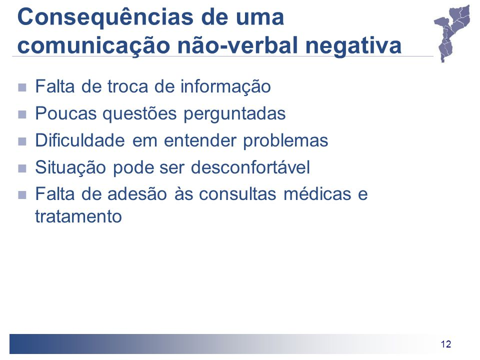 Consequências de uma comunicação não-verbal negativa