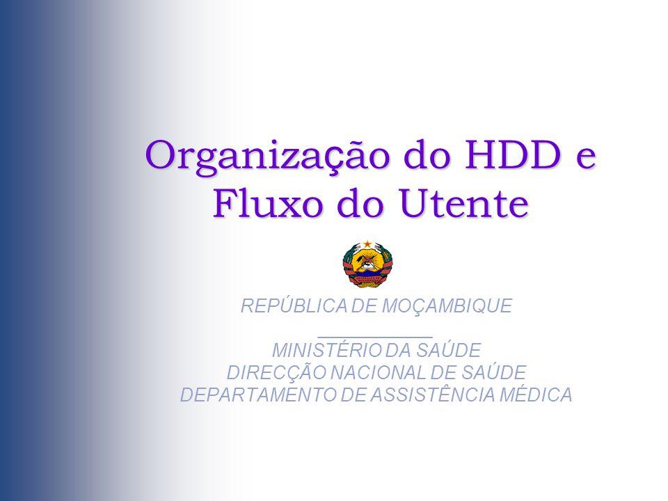 Organização do HDD e Fluxo do Utente