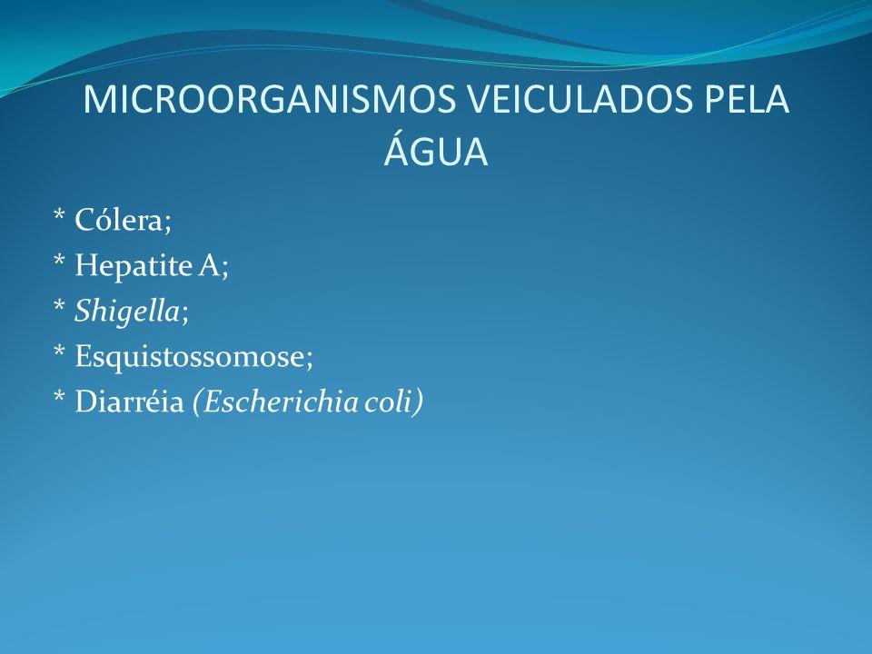 MICROORGANISMOS VEICULADOS PELA ÁGUA