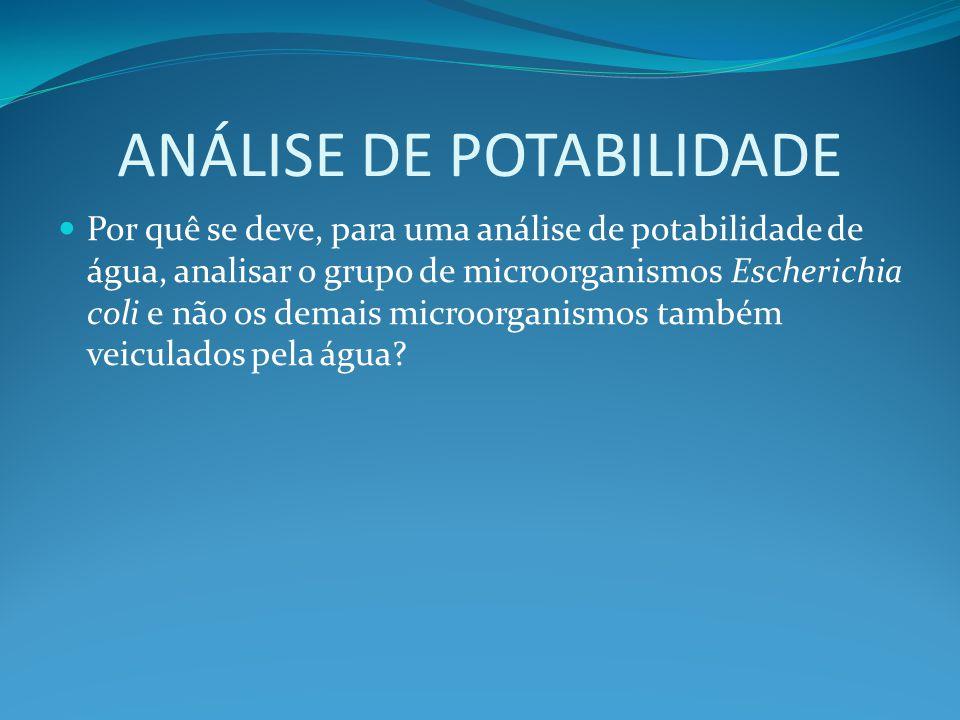 ANÁLISE DE POTABILIDADE