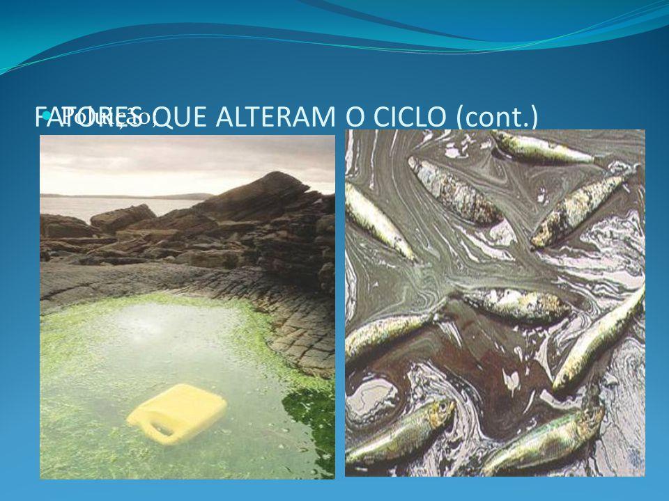 FATORES QUE ALTERAM O CICLO (cont.)