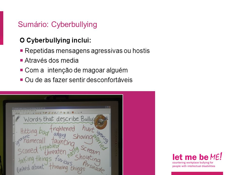 Sumário: Cyberbullying