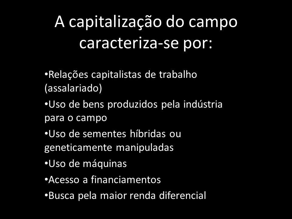 A capitalização do campo caracteriza-se por: