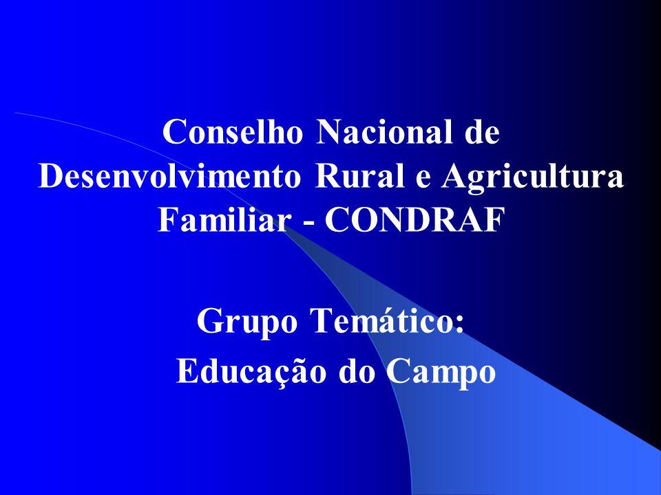 Conselho Nacional de Desenvolvimento Rural e Agricultura Familiar - CONDRAF