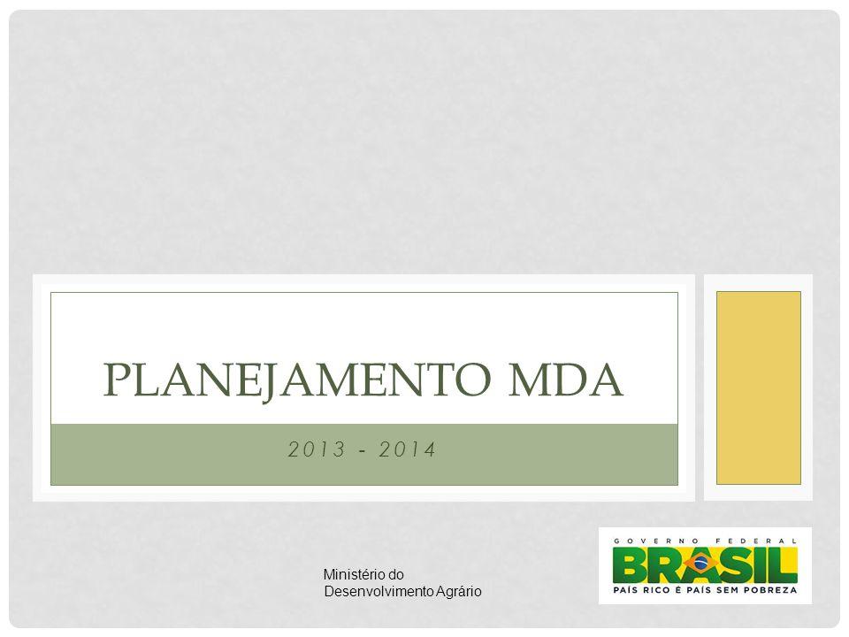 PLANEJAMENTO MDA 2013 - 2014 Ministério do Desenvolvimento Agrário