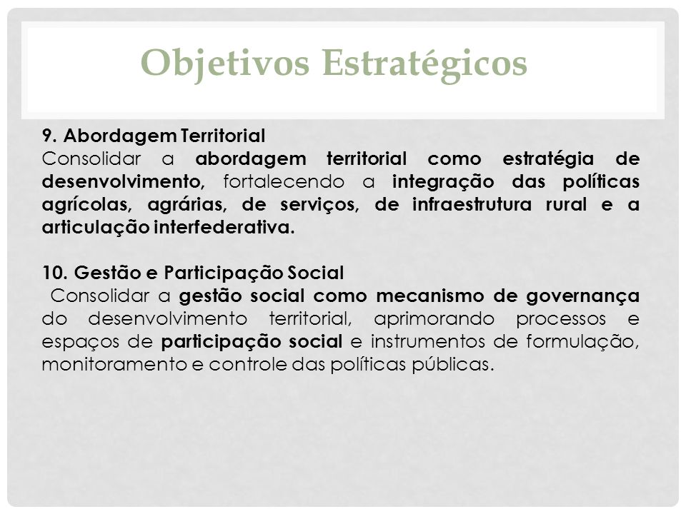 Objetivos Estratégicos