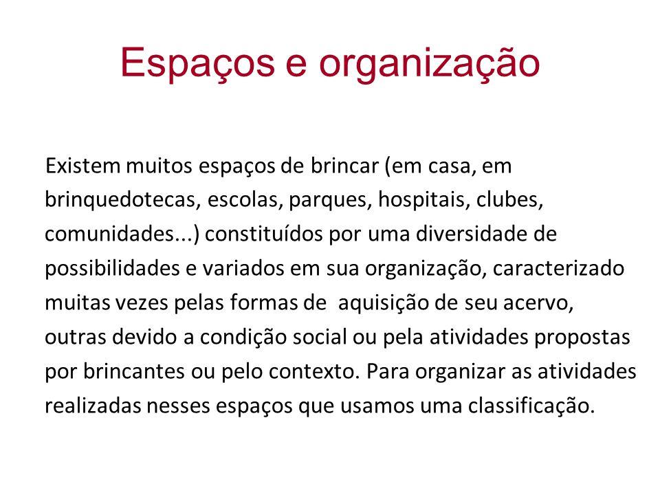 Espaços e organização