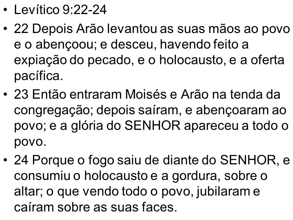 Levítico 9:22-24
