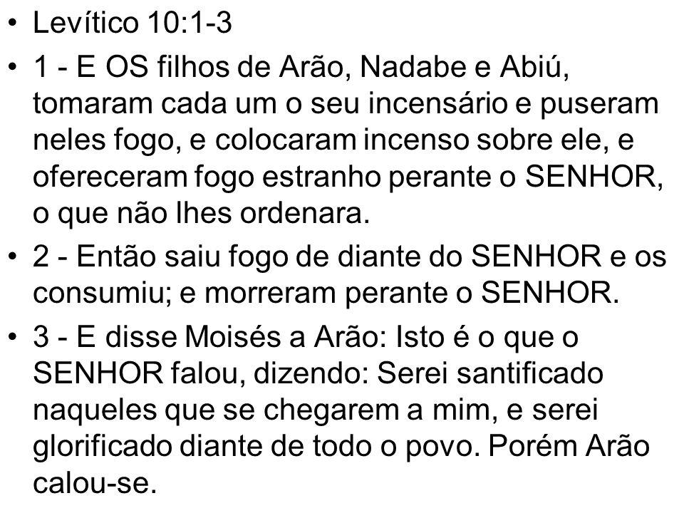 Levítico 10:1-3