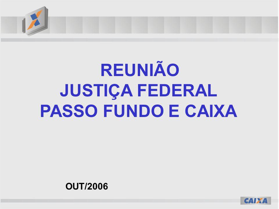 JUSTIÇA FEDERAL PASSO FUNDO E CAIXA