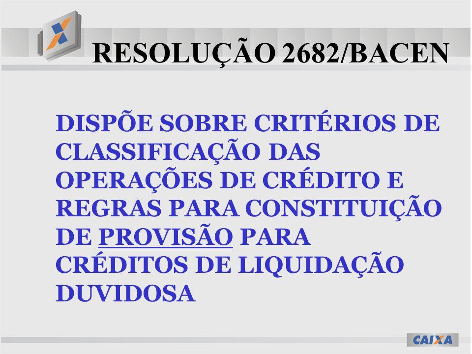 RESOLUÇÃO 2682/BACEN