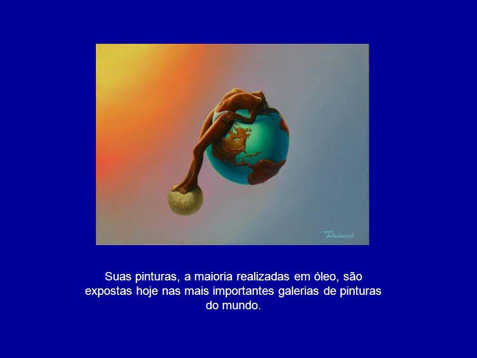 Suas pinturas, a maioria realizadas em óleo, são expostas hoje nas mais importantes galerias de pinturas do mundo.