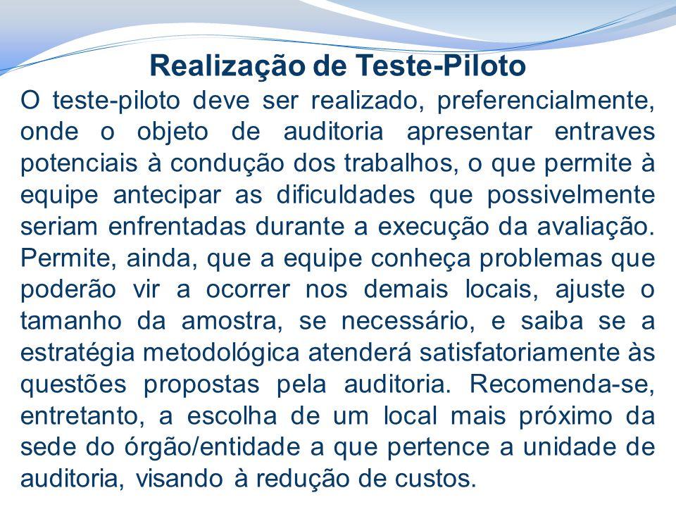 Realização de Teste-Piloto