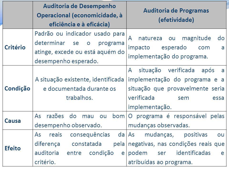 Auditoria de Programas (efetividade)